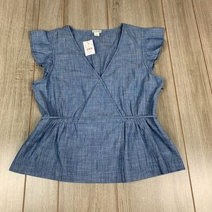 J.Crew denim top new with tags